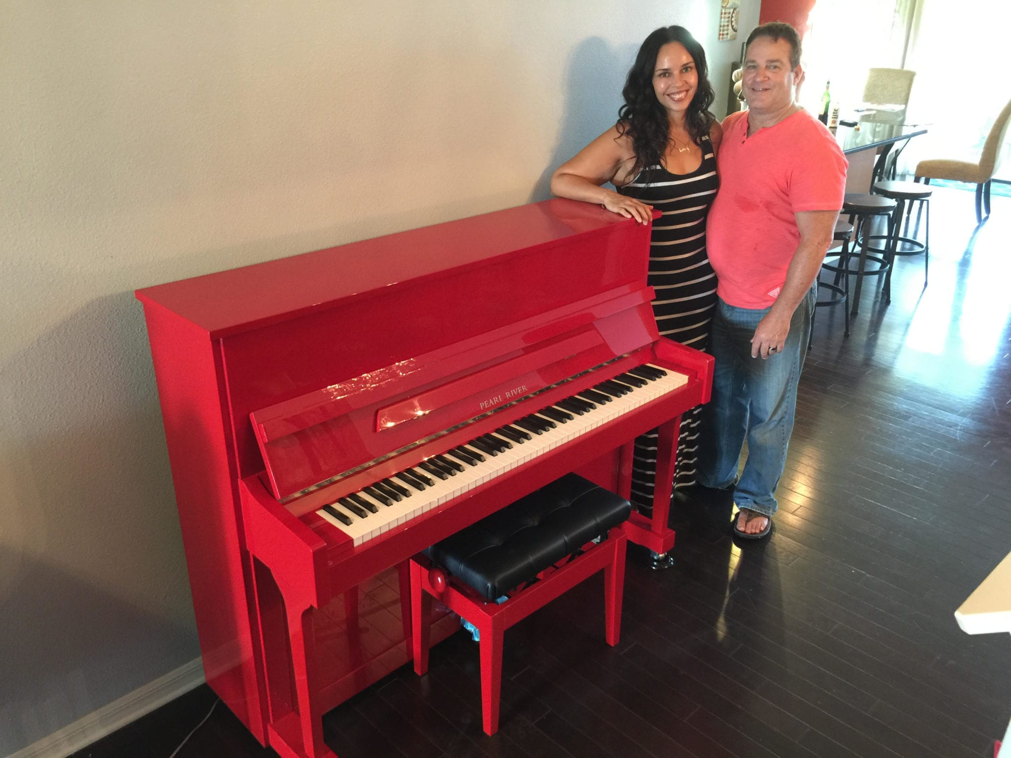 Limited Edition Pearl River Studio Piano Gets New Home
