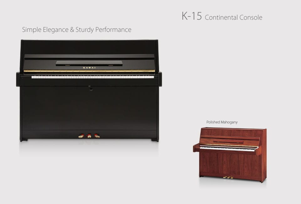 K-15 Continental Console Upright Piano