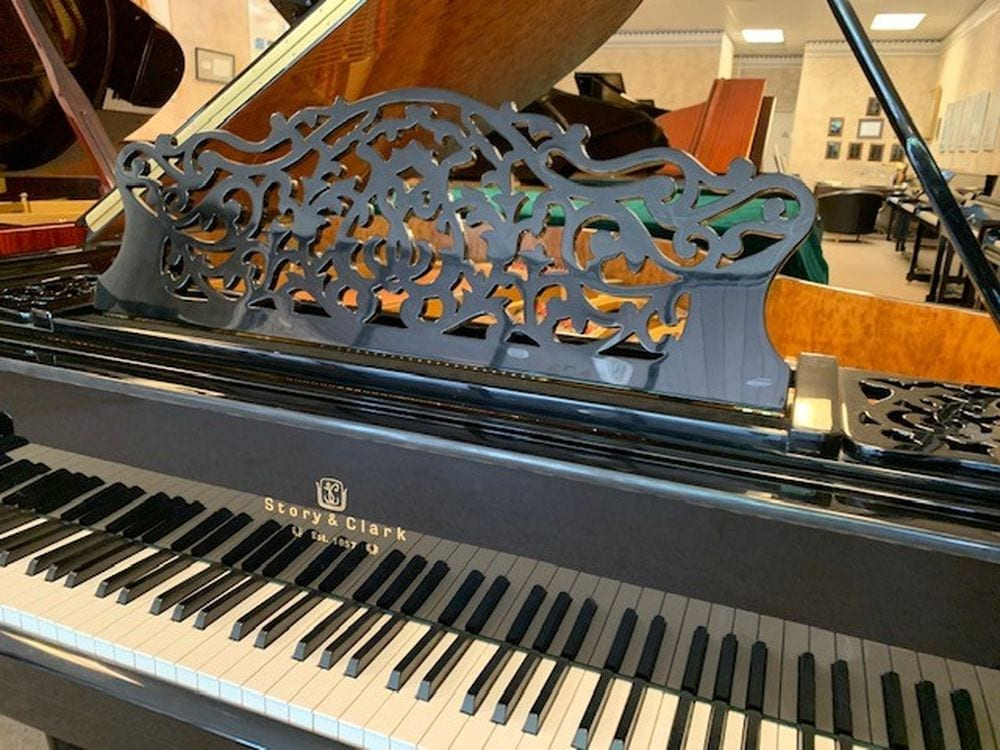 Super Ornate Baby Grand Piano with built in Self Playing Option - $7500