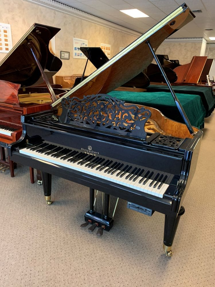 Super Ornate Baby Grand Piano with built in Self Playing Option